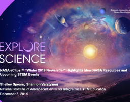 NASA eClips Winter 2019 Newsletter Highlights New NASA Resources and Upcoming STEM Events