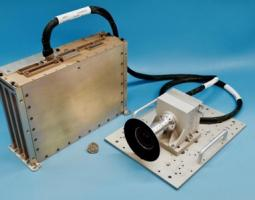 Photo of the landing components, including a camera