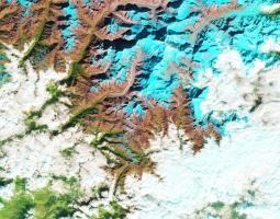 Satellite image of glacier