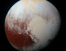 Pluto in enhanced color