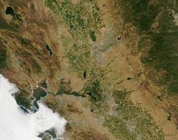satellite image showing drought in western united states