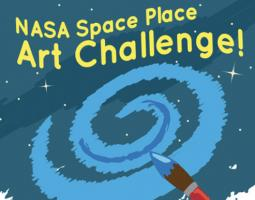 Space Place Art Challenge for kids