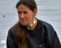 Photo of woman with long brown hair