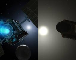 Dawn and Kepler spacecrafts