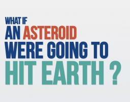 Title screen reading What if an asteroid were going to hit earth?