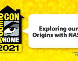 Exploring our Origins with NASA - Comic Con logo