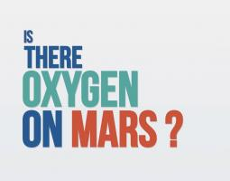 """Text title screen reading """"is there oxygen on Mars?"""""""