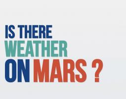 Title screen reading Is there weather on Mars?