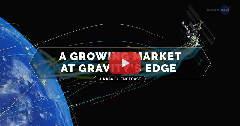 A Growing Market at Gravity's Edge Poster