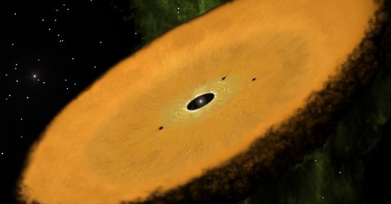 Artist rendition of orange peter pan disk