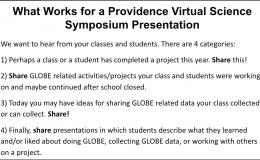 Slide with four guidelines for a Providence Virtual Science Symposium Presentation.
