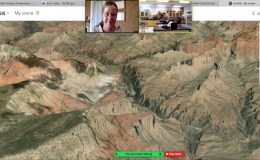 Students took a virtual tour around the planet using ArcGIS Online.