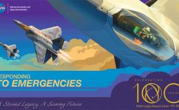 Illustration of airplane for Langley 100th Anniversary