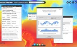 Screenshot of the NASA Power application charts and data