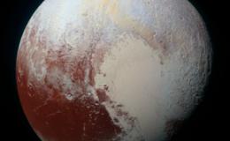 Pluto in enhanced color