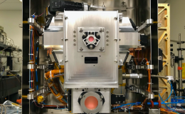 View of the atom interferometry-capable Science Module inside two layers of magnetic shields during the pre-launch build/testing phase at JPL.