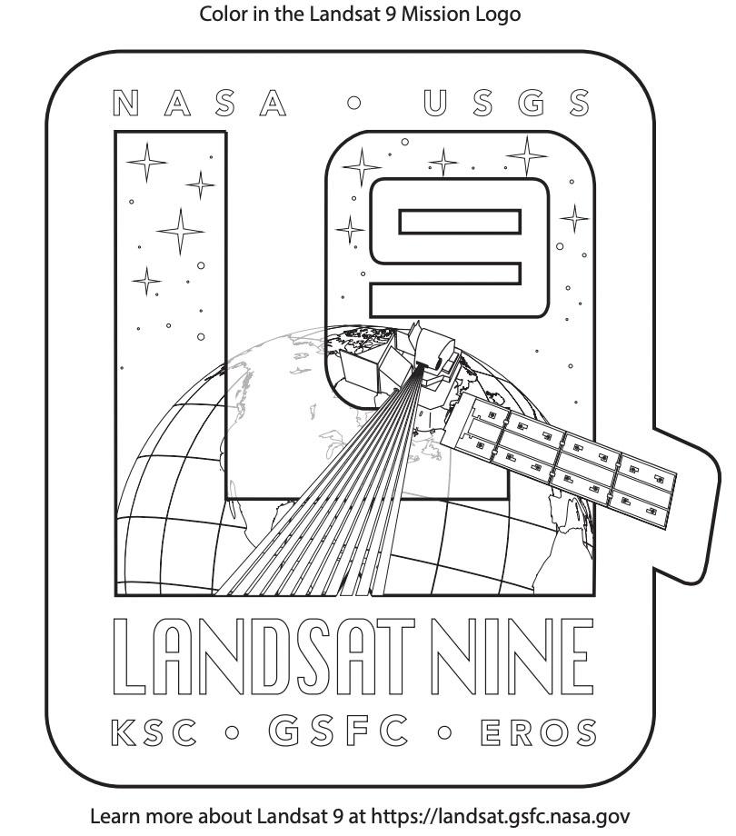 Landsat 9 Coloring Book